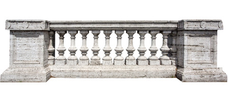 Close Up of Stone White Baluster Withclipping path
