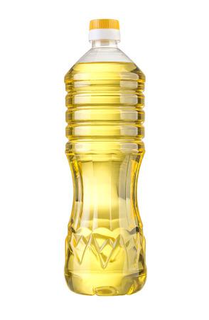 botellas de plastico: vegetal o aceite de girasol en botella de plástico aislado con trazado de recorte incluidos