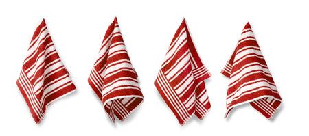 dishcloth: Kitchen towel isolated on white background