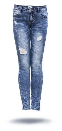 白い背景の女性のジーンズ