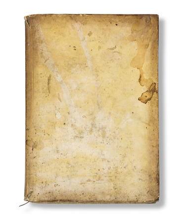 book cover: Old book cover, vintage texture, isolated on white background