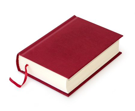 scientific literature: book red on white background