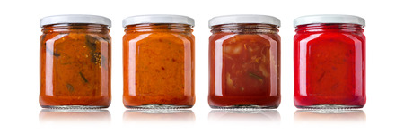 bailar salsa: las distintas salsas de barbacoa en botellas de vidrio