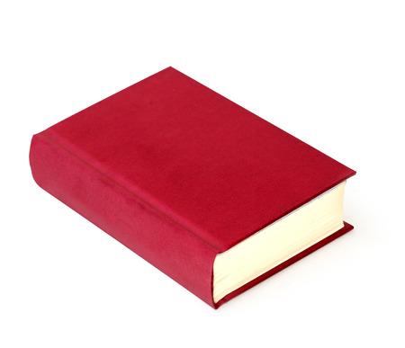 scientific literature: book red on white background Stock Photo