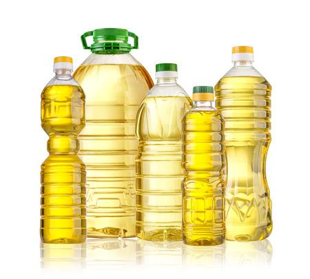 Olive oil bottle isolated  on white backgrouund Foto de archivo