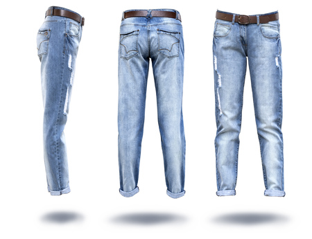 pocket: woman jeans in white background in 3 dementions
