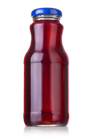 vaso de jugo: Botella de jugo aislado sobre fondo blanco con trazado de recorte Foto de archivo