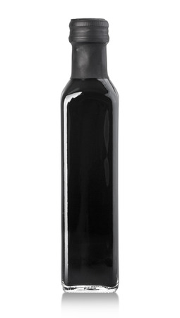 balsamic vinegar bottle isolated on the white background, with clipping path