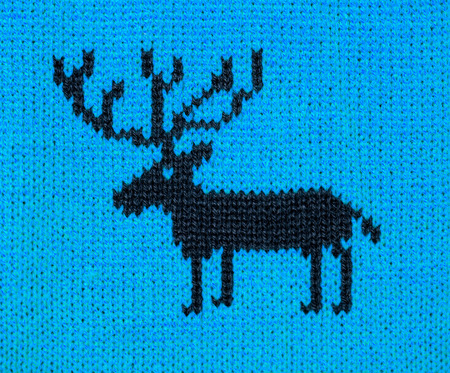 bluer: blue knitting ornament