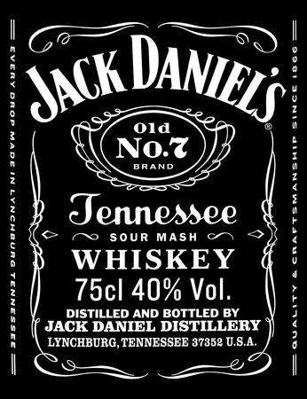 CHISINAU,MOLDOVA- NOEMBRIE 2015 : the logo of the brand Jack Daniels,Chisinau.