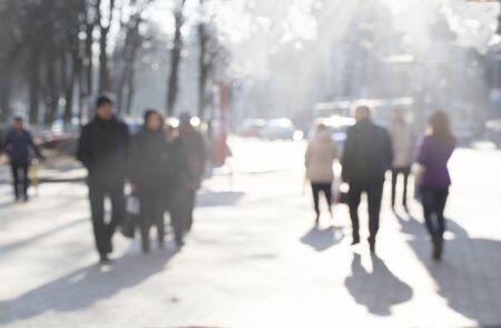 early morning in chisinau city. Moldovajeans Reklamní fotografie