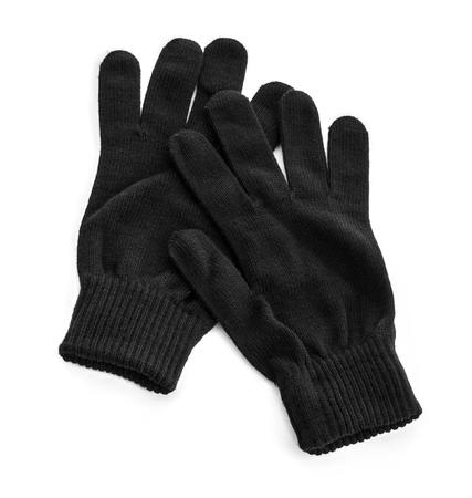 black gloves: Black Gloves on White Background with clipping path