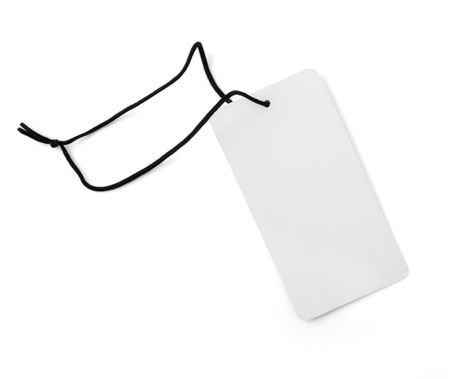 blank tag: blank price tag isolated over white background with clipping path