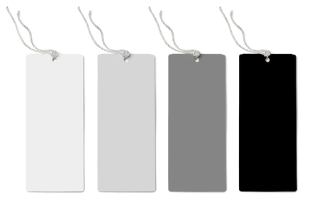 label tag: four labels (tags) isolated on white background