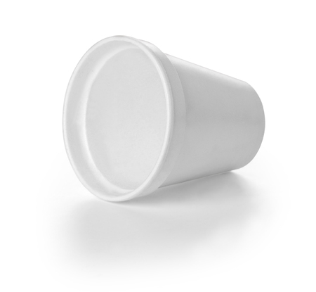 coffe cup: Polistren foam takeaway coffe cup with clipping path Stock Photo