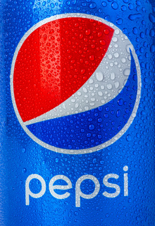 brads: CHISINAU, MOLDOVA - December 05, 2015: Pepsi is a carbonated soft drink produced PepsiCo. Created in 1893 and introduced as Brads Drink, it was renamed as Pepsi-Cola in 1898 then to Pepsi in 1961