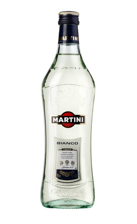vermouth: CHISINAU, MOLDOVA -  December 25, 2015 : Martini a famous Italian vermouth is the worlds fourth most powerful alcoholic brand produced in Turin by Martini and Rossi since 1863