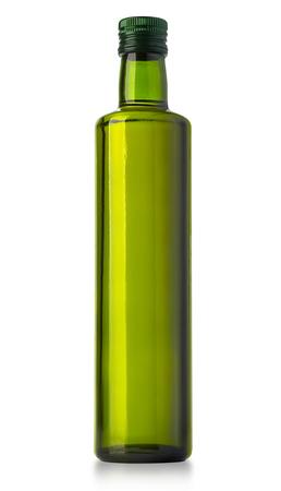 oil bottle: Olive oil bottle on white