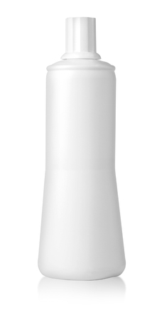 lose up: lose up of a white bottle on white background with clipping path