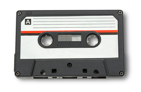 tapes: Audio cassette tape isolated on white background