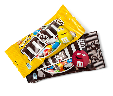mars incorporated: CHISINAU, MOLDOVA - Noember 12, 2015. M&Ms Chocolate peanut candies, produced by Mars, Incorporated. M&Ms have been one of the most famous candy treats in the world since 1941.