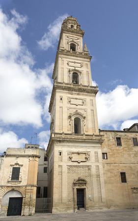 cattedrale: LECCE, ITALY -April 19, 2015. Cathedral of the Assumption of the Virgin Mary in Lecce, a historic city in Apulia, Southern Italy