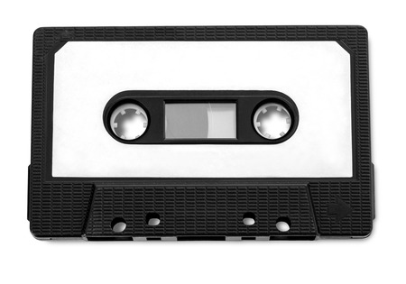 audio cassette: Audio cassette tape isolated on white background