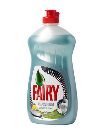 washing up: CHISINAU, MOLDOVA - FEBRUARY 23, 2016: Bottle of Lemon Fairy Washing up Liquid Editorial