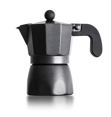 percolator: Percolator coffee with the lid closed. Isolated on a white background.with clipping path