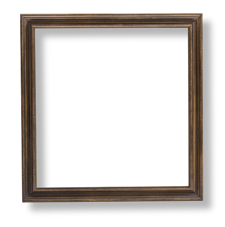framework: wooden frame isolated on white background with clipping path