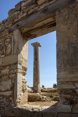 wavelet: Paphos, Cyprus - April 20, 2015:The Sanctuary of Apollo Hylates, Cyprus. The sanctuary is located about 2,5 kilometres west of the ancient town of Kourion along the road which leads to Pafos. Editorial