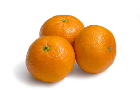 clementines: Fresh ecological clementines on a white background with clipping path