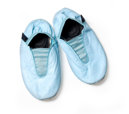 gym shoes: Gym shoes baby isolated on white with clipping path