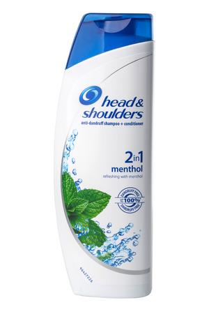 Chisinau, Moldova -May 27, 2016: Head & Shoulders Classic Clean Anti-Dandruff Shampoo. Studio shot, isolated on white background.