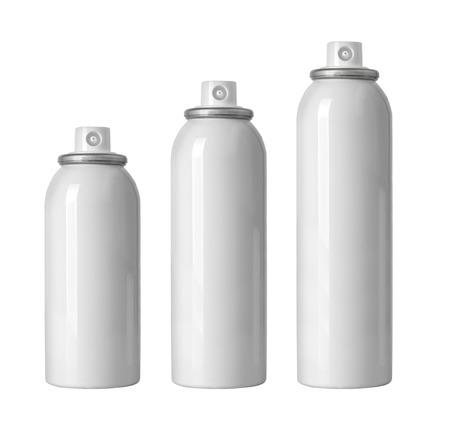 aluminium: cosmetic spray bottles set isolated on white background