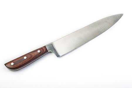Couteau de cuisine isolé sur fond blanc
