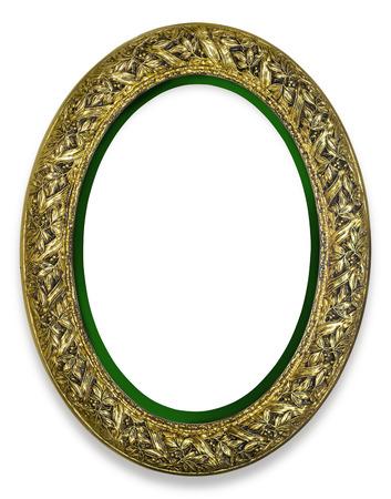 ornate frame: vintage gold frame, isolated on white
