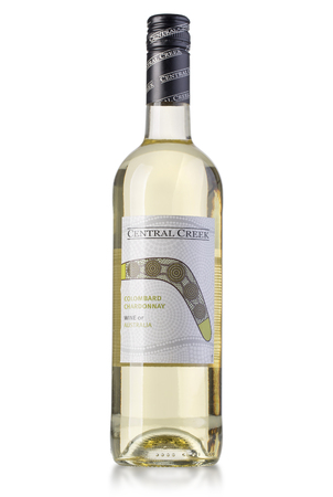 pinot grigio: Chisinau, Moldova 27 July 2016: Bottle of white wine Central Creek. Colombard Chardonnay. Australia