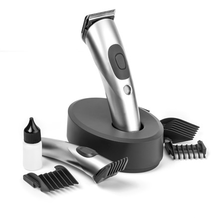 electric razor: hair clipper isolated on white background
