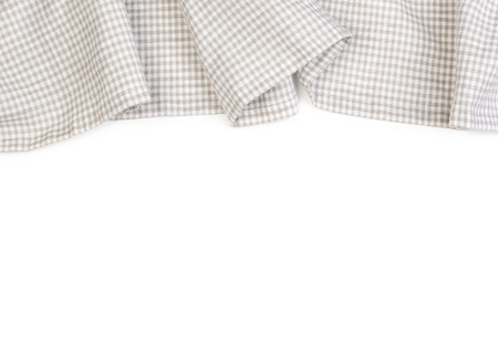 crumpled: tablecloth on white background,crumpled fabric background Stock Photo