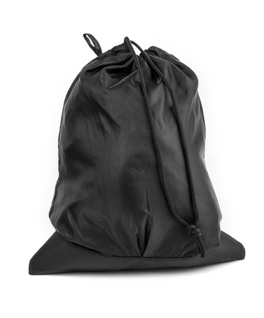 Bag in black with adjustable isolated on white background Stock Photo