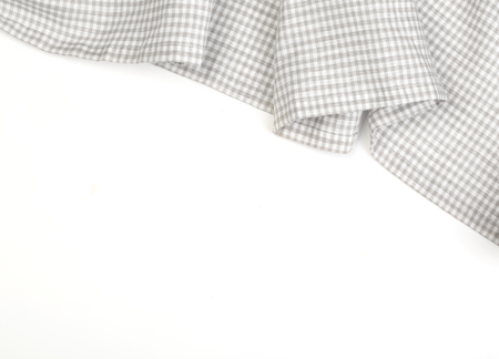 tablecloth: tablecloth on white background,crumpled fabric background Stock Photo