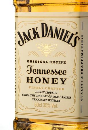 daniels: Chisinau, Moldova September 21, 2016: A close up shot of Jack Daniels whiskey