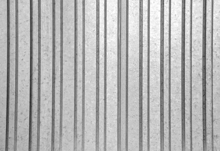 rigidity: Corrugated iron background, texture black and white Stock Photo