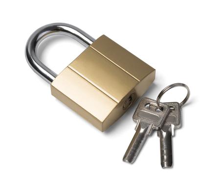 lock and key: lock and key isolated on white background
