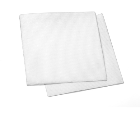 serviette: Blank paper napkin isolated on white background with copy space and clipping path