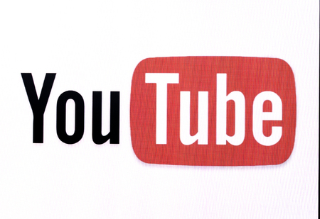 Chisinau, Moldova November 16, 2016: the logo of the brand Youtube website on computer screen YouTube is a video-sharing website by Google