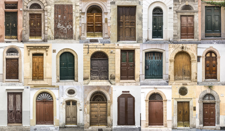 brick house: photos of doors  of the old districts of Europe
