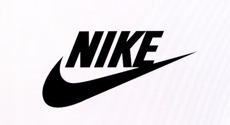 Chisinau, Moldova November 16, 2016: he logo of the brand Nike  on computer screen   Nike, Inc. is an American multinational corporation that is engaged sales of footwear, apparel, equipment, accessories and services.