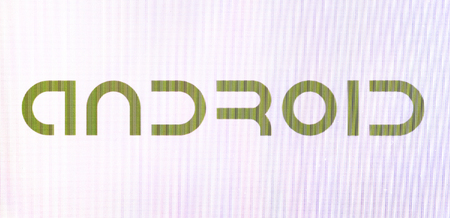 Chisinau, Moldova November 16, 2016: Android logotype on pc screen. Android - the operating system for smart phones, tablet computers, e-books, game consoles, netbooks, smartbooks, and other devices.